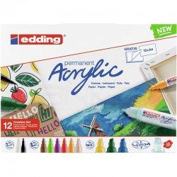 Edding Akrilik Marker Kalem Creative Set 12li - Thumbnail