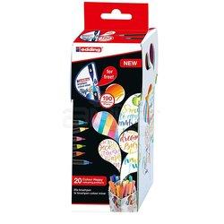 Edding - Edding Brushpen 1340 Fırça Uçlu Kalem Happy Box 20li Set (1)
