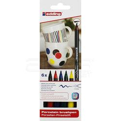 Edding - Edding Fırça Uçlu Porselen Kalemi 4200 1-4mm 6lı Set Basic