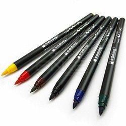 Edding - Edding Fırça Uçlu Porselen Kalemi 4200 1-4mm 6lı Set Basic (1)