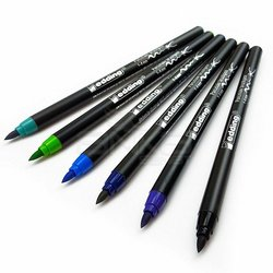 Edding Fırça Uçlu Porselen Kalemi 4200 1-4mm 6lı Set Soğuk Tonlar - Thumbnail