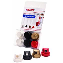 Edding - Edding 5200 Permanent Sprey Boya Başlığı 6lı Paket