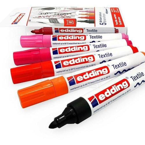 Edding Tekstil Kalemi 2-3mm 4500 5li Set Sıcak Tonlar