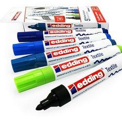 Edding - Edding Tekstil Kalemi 2-3mm 4500 5li Set Soğuk Tonlar