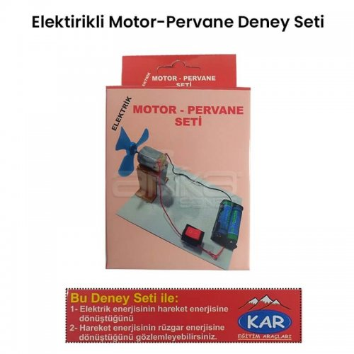 Elektrik Motor-Pervane Deney Seti