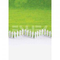 Eshel - Eshel Beyaz Ahşap Villa Çit 50cm Paket İçi:1 (1)