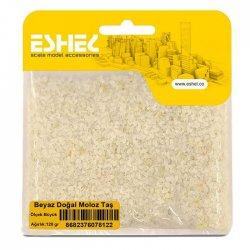 Eshel - Eshel Beyaz Doğal Moloz Taş Büyük Paket İçi:120 gr