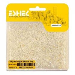 Eshel - Eshel Beyaz Doğal Moloz Taş Küçük Paket İçi:120 gr (1)