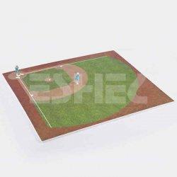 Eshel - Eshel İnsan Figürleri ve Beyzbol Oyun Alanı 1-75 Paket İçi:2 (1)