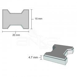Eshel - Eshel Minyatür Kilit Parke 1/12 2x1.5x4.7cm (1)