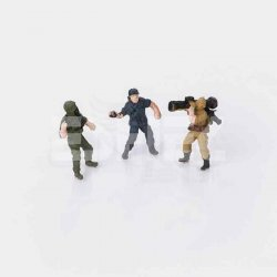 Eshel - Eshel Renkli Askeri İnsan Figürleri 1-100 Paket İçi:3