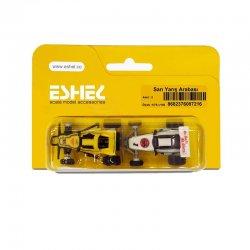 Eshel - Eshel Sarı Yarış Arabası 1-75-1-100 Paket İçi:2