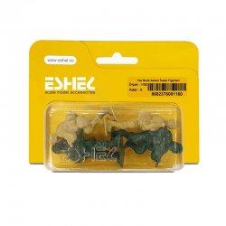Eshel - Eshel Tek Renk Askeri İnsan Figürleri 1-50 Paket İçi:4