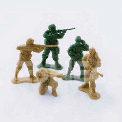 Eshel - Eshel Tek Renk Askeri İnsan Figürleri 1-50 Paket İçi:4 (1)