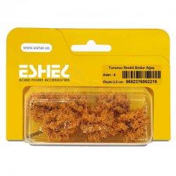 Eshel - Eshel Turuncu Renkli Bodur Ağaç Maketi 2,5cm 6lı (1)