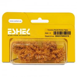Eshel - Eshel Turuncu Renkli Bodur Ağaç Maketi 2,5cm 6lı