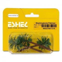 Eshel - Eshel Washingtonia Palmiye Ağacı Maketi 5,5cm 3lü (1)
