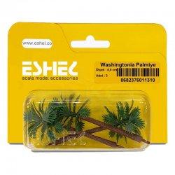 Eshel - Eshel Washingtonia Palmiye Ağacı Maketi 5,5cm 3lü