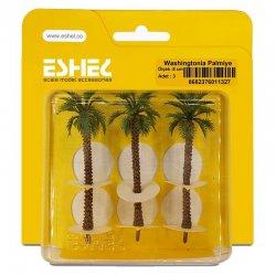 Eshel - Eshel Washingtonia Palmiye Ağacı Maketi 8cm 3lü
