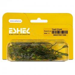 Eshel - Eshel Yeşil Çiçek 8cm Paket İçi:5 (1)