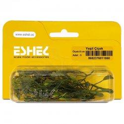 Eshel - Eshel Yeşil Çiçek 8cm Paket İçi:5
