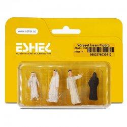 Eshel - Eshel Yöresel İnsan Figürü Maketi 1-50 4lü