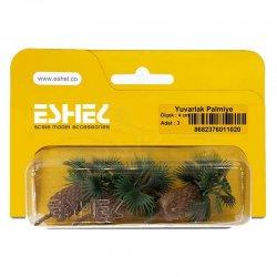 Eshel - Eshel Yuvarlak Palmiye 4cm Paket İçi:3 (1)
