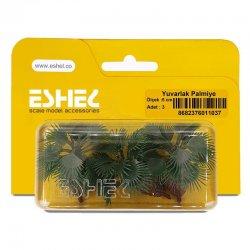 Eshel - Eshel Yuvarlak Palmiye Ağacı Maketi 5cm 3lü