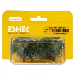 Eshel - Eshel Yuvarlak Palmiye Ağacı Maketi 5cm 3lü (1)