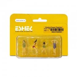 Eshel - Eshel Yüzücü İnsan Figürleri 1-50 Paket İçi:4