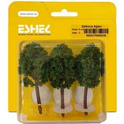 Eshel - Eshel Zelkova Ağacı Maketi 9cm 3lü