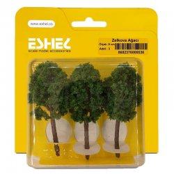 Eshel - Eshel Zelkova Ağacı Maketi 9cm 3lü (1)