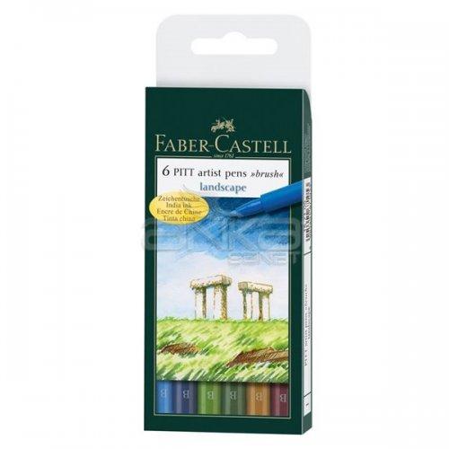Faber Castell 6 Pitt Artist Pen Fırça Uçlu Çizim Kalemi Landscape