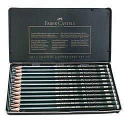 Faber Castell - Faber Castell 9000 Dereceli Kalem 12li Art Set (1)