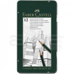 Faber Castell - Faber Castell 9000 Dereceli Kalem 12li Design Set (1)