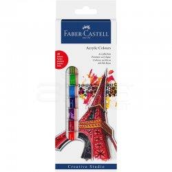 Faber Castell - Faber Castell Akrilik Boya 12 Renk 12ml Tüp 169501