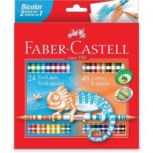Faber Castell Bicolor Çift Uçlu Kuru Boya Kalemi 48 Renk 5171120624