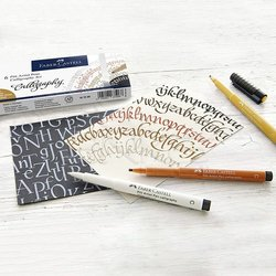 Faber Castell - Faber Castell Calligraphy Seti 6lı (1)