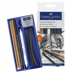Faber Castell - Faber Castell Charcoal Sketch Set 7li (1)