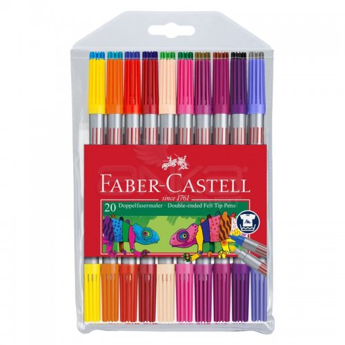 Faber Castell Çift Taraflı Keçeli Kalem 20li 151119