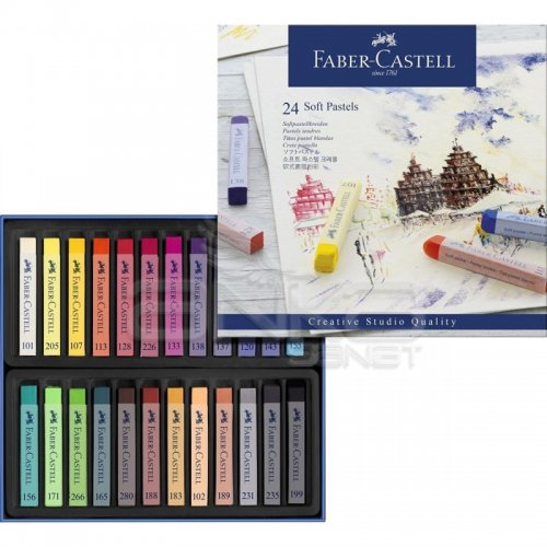 Faber Castell Creative Studio Tam Boy Soft Pastel 24lü Kod:128324
