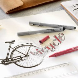 Faber Castell - Faber Castell Ecco Pigment Teknik Çizim Kalemi (1)