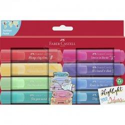 Faber Castell - Faber Castell Fosforlu Kalem Pastel Renkler 8li 254626