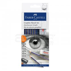 Faber Castell - Faber Castell Goldfaber Dereceli Kalem Çizim Seti 8li