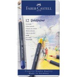 Faber Castell - Faber Castell Goldfaber Renkli Boya Kalemi 12li Set (1)