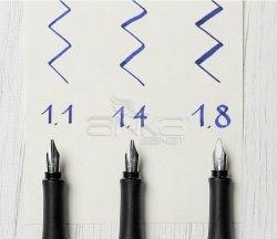Faber-Castell Grip 2011 Dolma Kalem Kaligrafi Set Gümüş - Thumbnail