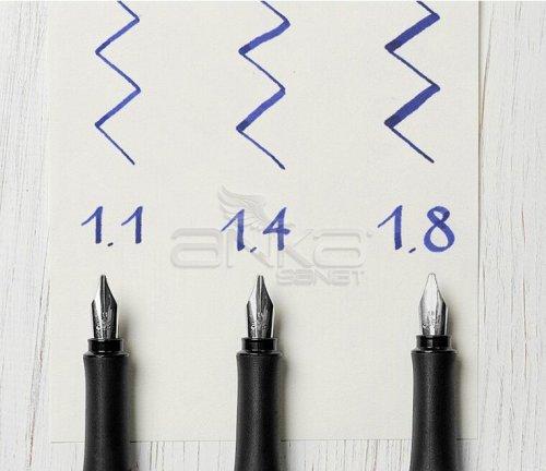 Faber-Castell Grip 2011 Dolma Kalem Kaligrafi Set Gümüş
