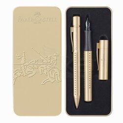 Faber Castell Grip Dolma ve Tükenmez Kalem Seti Gold Edition 201625 - Thumbnail