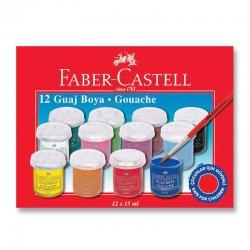 Faber Castell - Faber Castell Guaj Boya Takımı 15ml 12 Renk Kod:5170160401