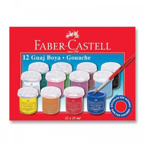 Faber Castell Guaj Boya Takımı 15ml 12 Renk Kod:5170160401
